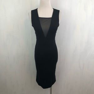 French Connection Black Lulu Bodycon Dress 2 0116